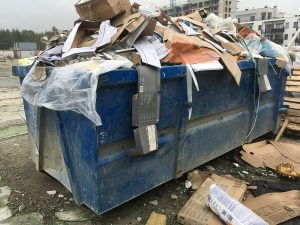 odpady budowlane kontener Łódź wywóz