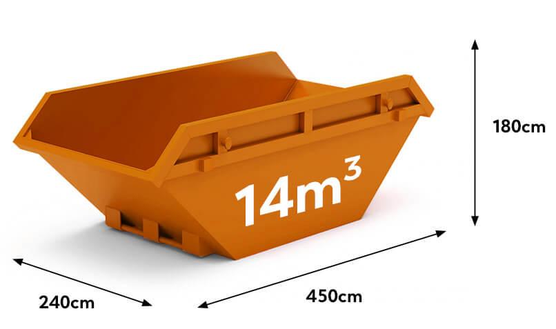 kontener na gruz i śmieci 14m3