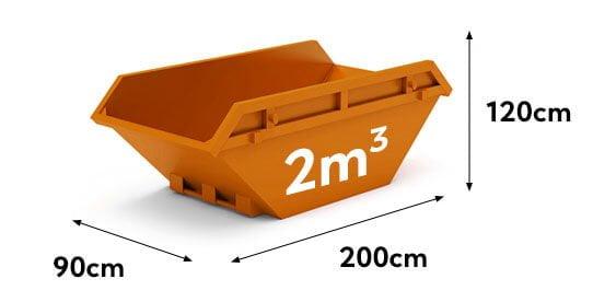 kontener na gruz i śmieci 2m3
