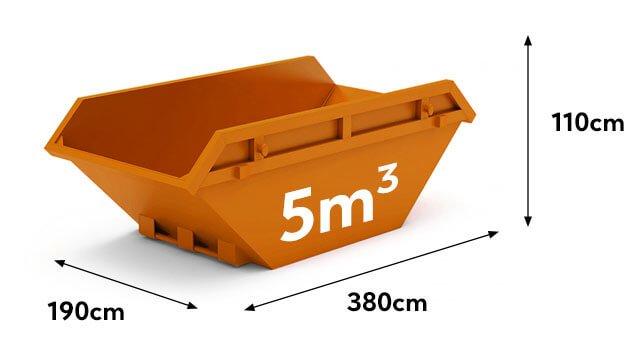 kontener na gruz i śmieci 5m3