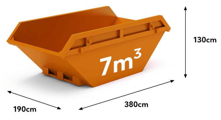 kontener na gruz i śmieci 7m3